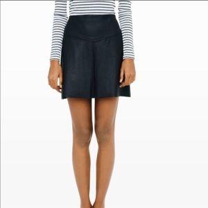 Black Leather Club Monaco Skirt